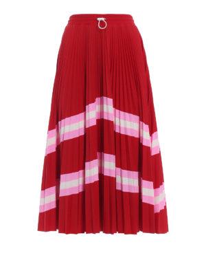 Valentino: Knee length skirts & Midi - Pleated circle midi skirt