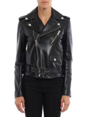 Valentino: leather jacket online - 20.Rockstud Untitled biker jacket