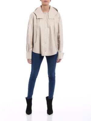 Valentino: leather jacket online - Soft leather shirt style jacket
