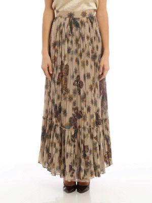 Valentino: Long skirts online - Boho inspired cotton maxi skirt