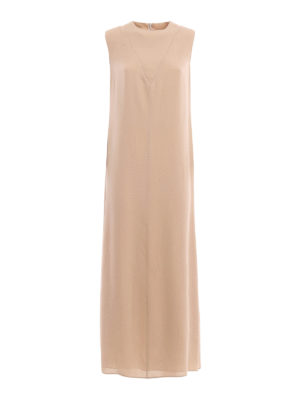 Valentino: maxi dresses - Straight line design silk dress
