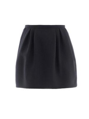 VALENTINO: minigonne - Minigonna nera in Crepe Couture
