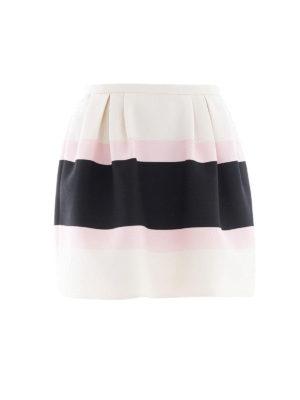 VALENTINO: minigonne - Minigonna in Crepe Couture Macro Baiadera