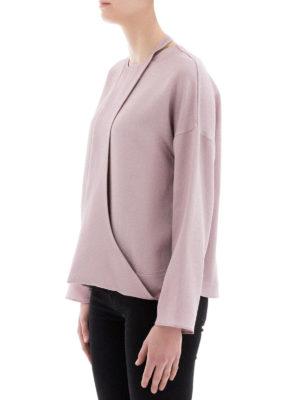 VALENTINO: bluse online - Blusa con pettorina in satin lamé