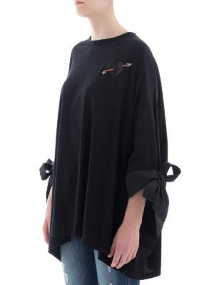 VALENTINO: bluse online - Blusa oversize in cotone con maxi fiocchi