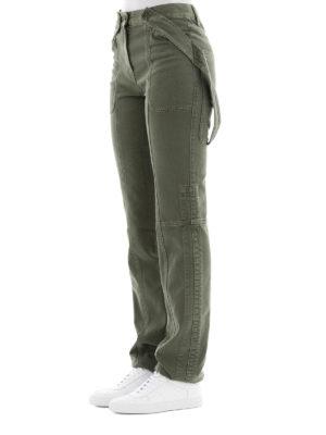 VALENTINO: pantaloni casual online - Pantaloni in denim verde militare