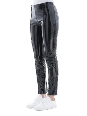 VALENTINO: pantaloni casual online - Pantalone in vinile nero