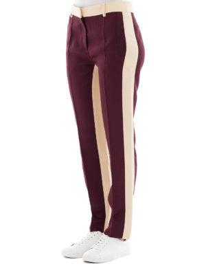 VALENTINO: pantaloni casual online - Pantaloni in misto seta bicolori