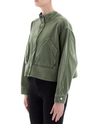 VALENTINO: giacche denim online - Giacca in denim verde militare