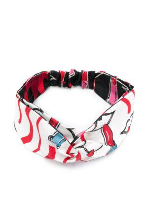 VALENTINO: accessori per capelli online - Fascia per capelli Lipstick in seta