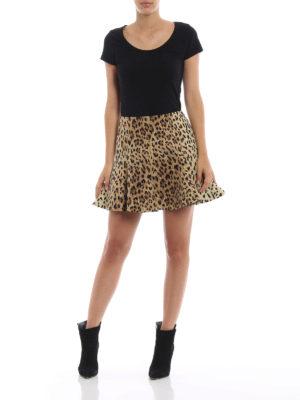 VALENTINO: minigonne online - Minigonna a ruota in Crepe Couture animalier
