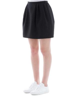 VALENTINO: minigonne online - Minigonna nera in Crepe Couture