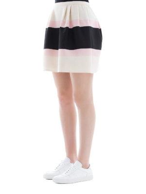 VALENTINO: minigonne online - Minigonna in Crepe Couture Macro Baiadera