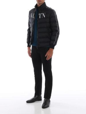 VALENTINO: giacche imbottite online - Piumino VLTN in nylon nero opaco