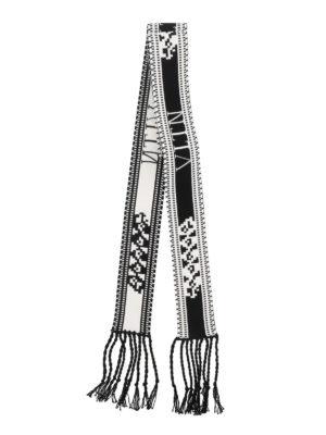 VALENTINO: sciarpe e foulard online - Scarf bandeau in maglia con frange