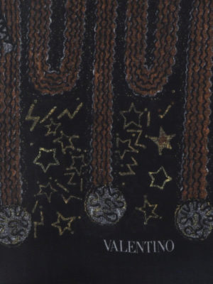 VALENTINO: sciarpe e foulard online - Sciarpa con stampa Galaxy
