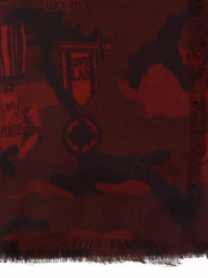 VALENTINO: sciarpe e foulard online - Sciarpa in misto seta Love Blade