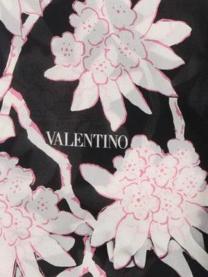 VALENTINO: sciarpe e foulard online - Foulard in seta stampa Rododendro
