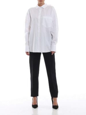 VALENTINO: camicie online - Camicia VLTN in popeline con fiocco