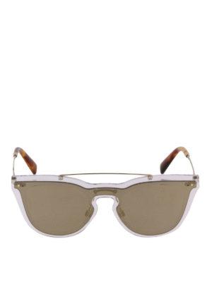 VALENTINO: occhiali da sole online - Occhiali in fibra di nylon lente su lente