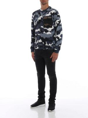 VALENTINO: Felpe e maglie online - Felpa camouflage con tasca applicata