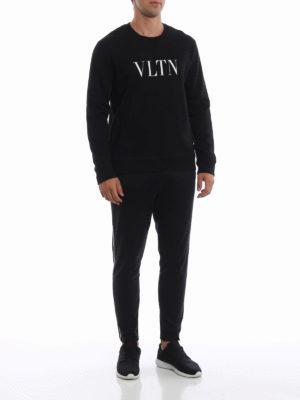 VALENTINO: Felpe e maglie online - Felpa nera VLTN in cotone