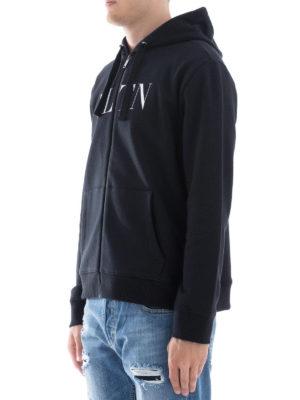 VALENTINO: Felpe e maglie online - Felpa con stampa VLTN e cappuccio
