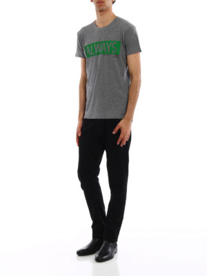 VALENTINO: t-shirt online - T-shirt in cotone con stampa Always