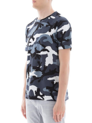 VALENTINO: t-shirt online - T-shirt in cotone camouflage