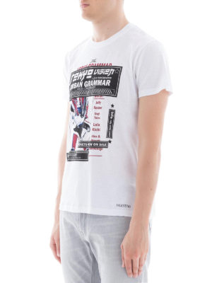 VALENTINO: t-shirt online - T-shirt in cotone con stampa Concerts