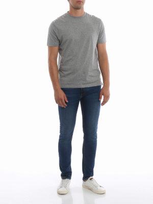 VALENTINO: t-shirt online - T-shirt Rockstud Untitled grigio mélange