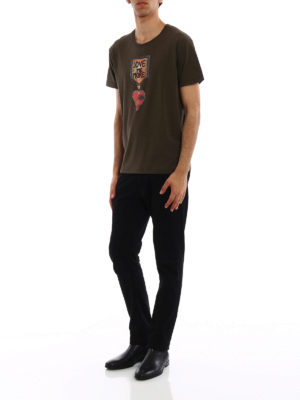 VALENTINO: t-shirt online - T-shirt in jersey Love Me More