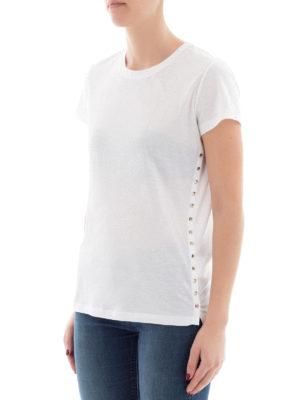 VALENTINO: t-shirt online - T-shirt Rockstud in cotone bianco