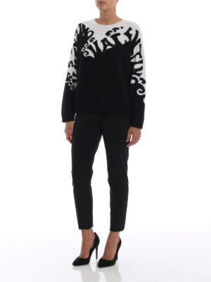 VALENTINO: Pantaloni sartoriali online - Pantaloni neri in pura lana stretch