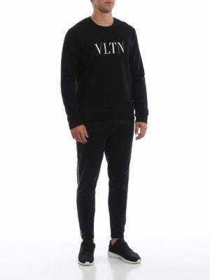 VALENTINO: pantaloni sport online - Pantaloni da jogging neri in misto cotone