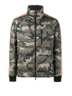 Valentino: padded jackets - Camu techno padded jacket