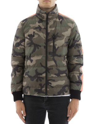 Valentino: padded jackets online - Camu techno padded jacket