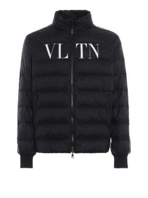 VALENTINO: giacche imbottite - Piumino VLTN in nylon nero opaco