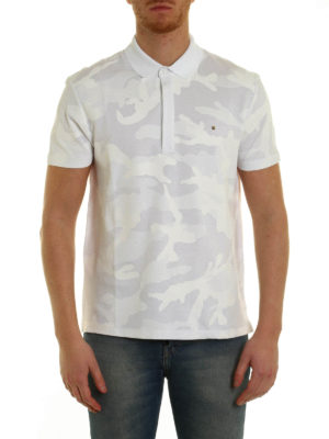 Valentino: polo shirts online - Camouflage print polo shirt