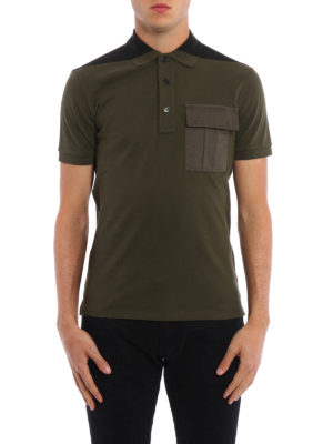 Valentino: polo shirts online - Patch pocket pique polo shirt