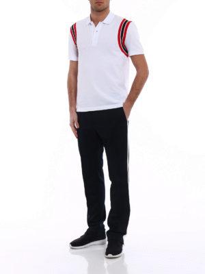 Valentino: polo shirts online - Striped armholes cotton polo shirt