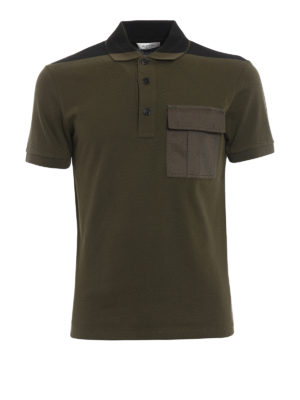 Valentino: polo shirts - Patch pocket pique polo shirt