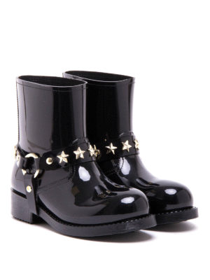 Valentino Red: ankle boots online - Star studded rain boot