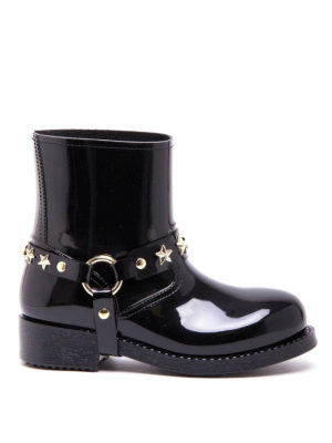 Valentino Red: ankle boots - Star studded rain boot