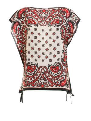 VALENTINO RED: bluse - Kaftano a scatola in seta Paisley