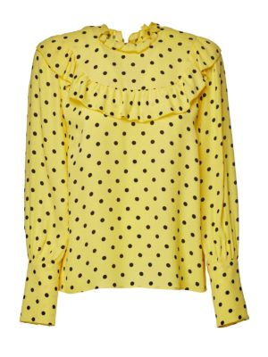 VALENTINO RED: blouses - Polka dots blouse in yellow and black