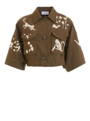 VALENTINO RED: giacche casual - Giacca crop con stampa scimmie