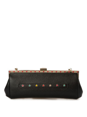 Valentino Red: clutches - Star detailed leather clutch