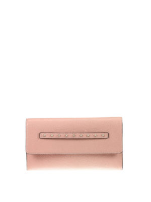 Valentino Red: clutches - Stars detail leather clutch