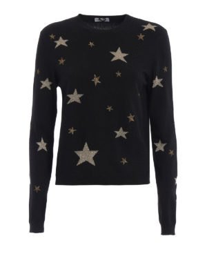 Valentino Red: crew necks - Stardust print crewneck with scarf